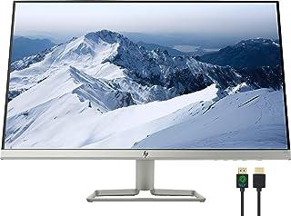 """HP 27"""" Full HD 1080p IPS LED Ultra-Slim Monitor, AMD FreeSync, HDMI & VGA Ports, Natural Silver, Nly 4K HDMI Cable Bundle"""