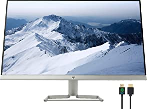 "$209 » HP 27f 27"" Full HD 1080p IPS LED Ultra-Slim Monitor, AMD FreeSync, HDMI & VGA Ports, Natural Silver, Nly 4K HDMI Cable Bundle"