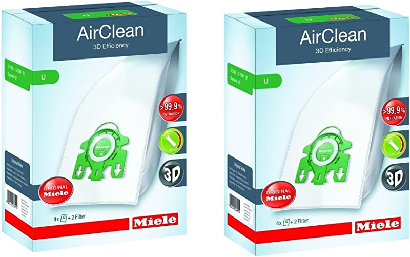Miele Type U AirClean FilterBags S7 Upright 8 Bags