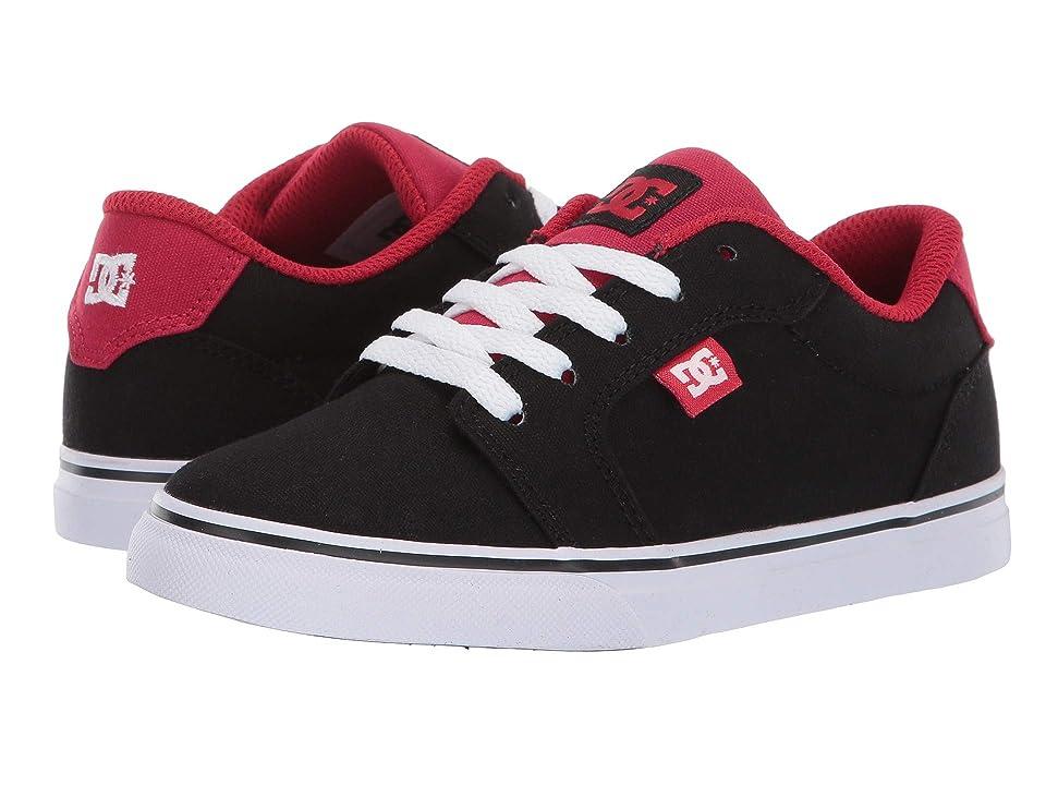 DC Kids Anvil TX (Little Kid/Big Kid) (Black/Athletic Red) Boys Shoes