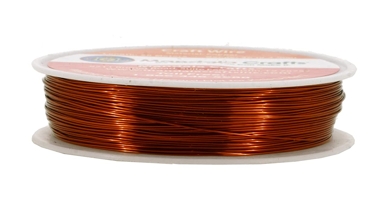 Mandala Crafts Thin Copper Wire for Jewelry Making, Sculpting, Weaving, Hobby, Gem Metal Wrap; Soft and Bendable; 1 Spool (26 Gauge 50M, Red Copper)