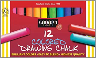 Sargent Art 22-4132 Round Colored Drawing Chalk, 12 Count