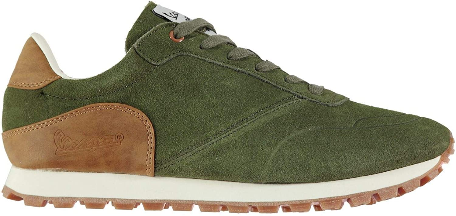 VESPA Corsa Low Trainers Mens Green Athleisure Footwear shoes Sneakers