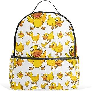 Rucksack mit süßem gelben Entenmotiv, Segeltuch, Rucksack, große Kapazität, lässiger Reise-Tagesrucksack für Kinder, Mädchen, Jungen, Kinder, Studenten
