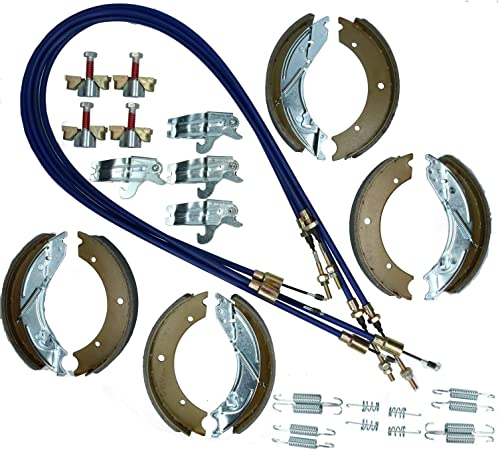 Triple Axle 200x50mm Trailer Brake Shoe & Cable Kit for IFOR ...