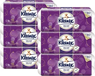 Kleenex Ultra Soft Toilet Tissue, 6 packs of 10 x 200 sheets, Case (Packaging May Vary)
