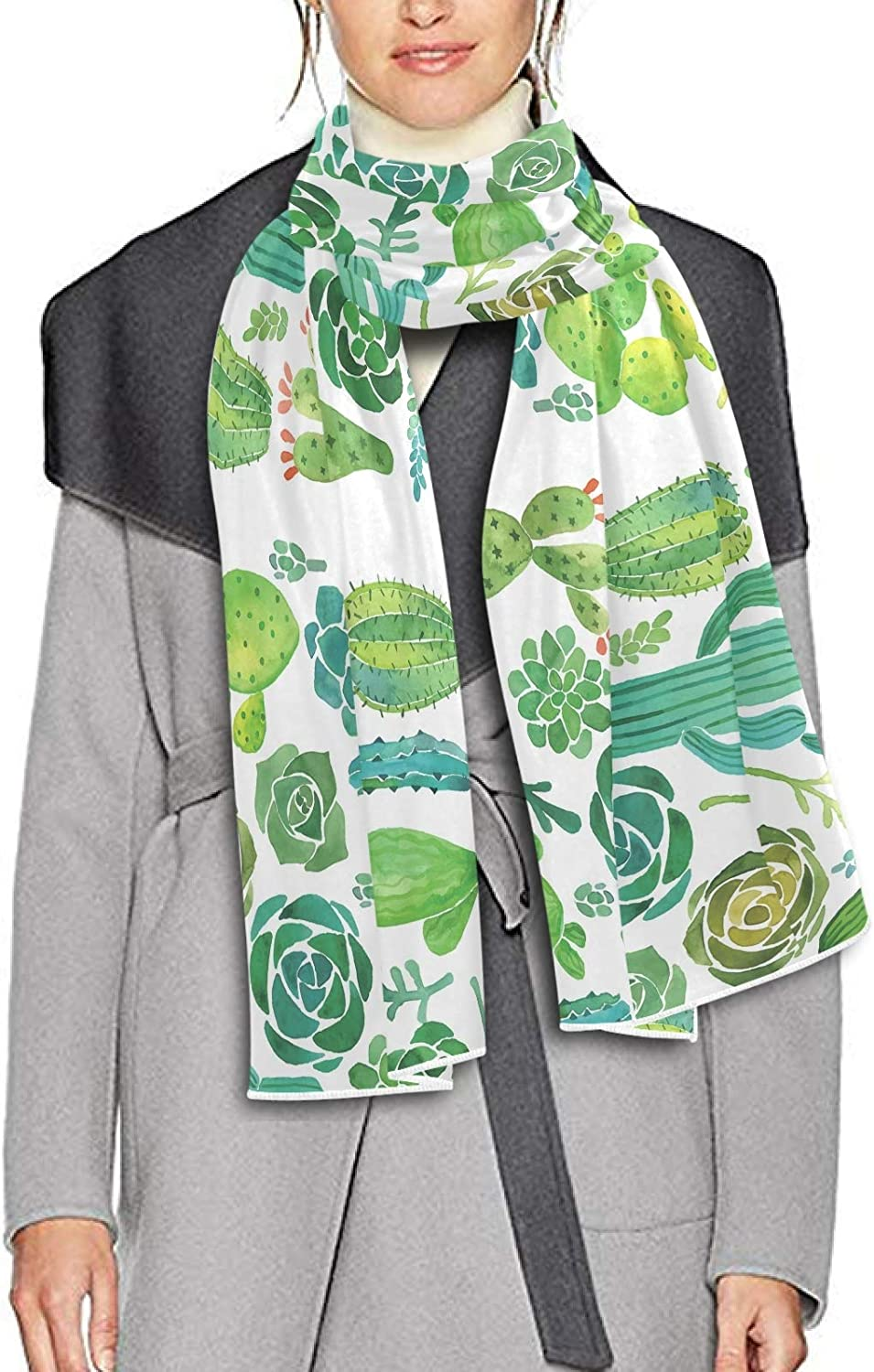 Scarf for Women and Men Flowers Leaves Cactus Blanket Shawl Scarf wraps Warm soft Winter Oversized Scarves Lightweight