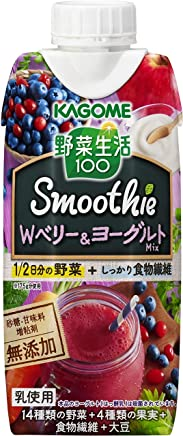 [2CS] カゴメ 野菜生活100 Smoothie Wベリー&ヨーグルトMix (330ml×12本)×2箱