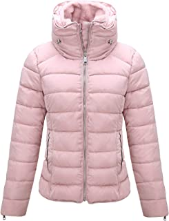 Women's Quilted Lightweight Padding Jacket, Puffer Coat Cotton Filling Water Resistant