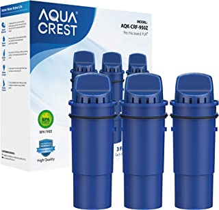 AQUACREST NSF Certified CRF-950Z Pitcher Water Filter, Compatible with Pur Pitchers and Dispensers PPT700W, CR-1100C, DS-1...