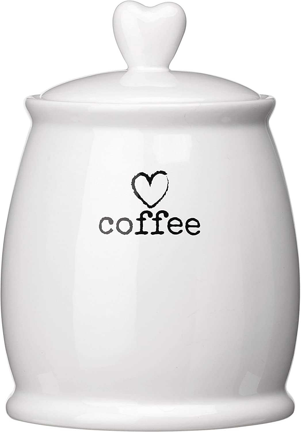 Premier Housewares Charm Coffee Canister White