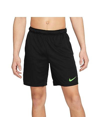 Nike Dry-FIT Knit Short 5.0 (Black/Mean Green/Mean Green) Men