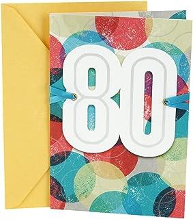 Hallmark 80th Birthday Card (Bold Circles)