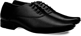 DEEKADA Men's Black Synthetic Leather Formal Shoes