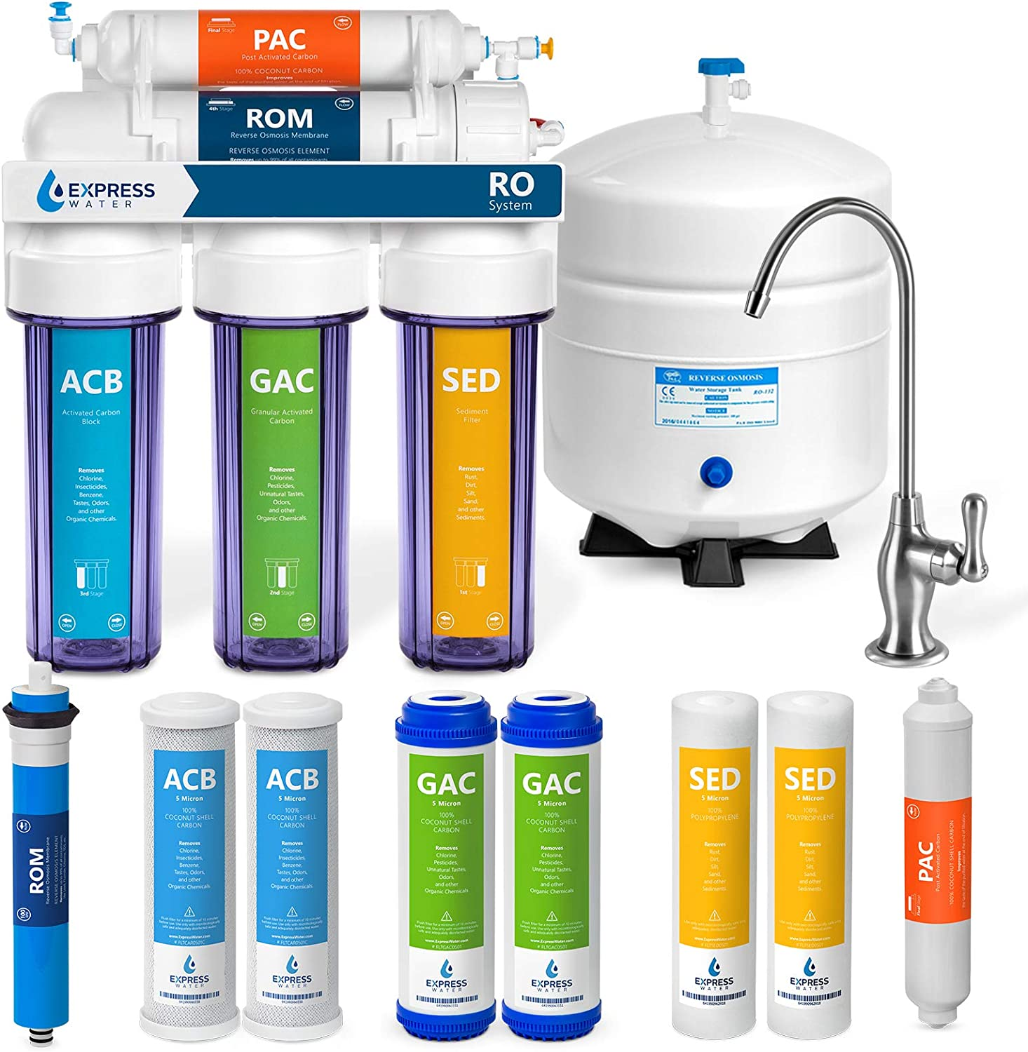Outlet Deluxe sale feature Express Water Reverse Osmosis Filtration – System 5 Stage