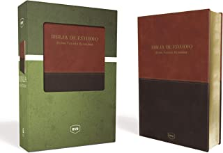 Santa Biblia de Estudio Reina Valera Revisada RVR, Leathersoft, Café Contemporáneo (Spanish Edition)