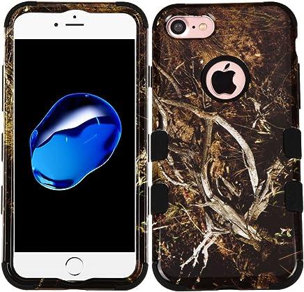 Funda Case para iPhone 7 Doble Protector de Uso Rudo Funda Anti Impactos Resistente a Caídas (Cammo)