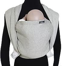 DIDYMOS Woven Wrap Baby Carrier Silver (Organic Cotton), Size 7 (520 cm)