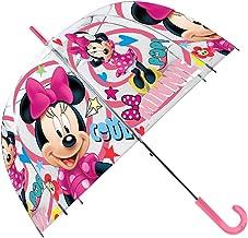Disney Paraguas Transparente 48cm Campana Manual de Paraguas Clásico, 80 cm