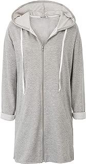 GRACE KARIN Women's Lightweight Jacket Long Sleeve Side Slip Hooded Zip Coat Tops AF104
