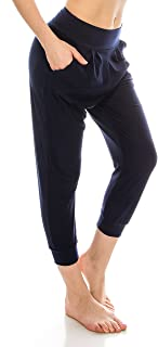 EttelLut Loose Fit Harem Jogger Pants-Casual Yoga Exercise with Side Pockets