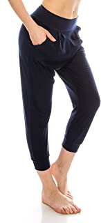 Loose Fit Harem Jogger Pants-Casual Yoga Exercise with Side Pockets