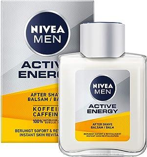 NIVEA MEN Active Energy After Shave balsam (100 ml), rewitalizujący po goleniu z kofeiną ze 100% naturalnego źródła