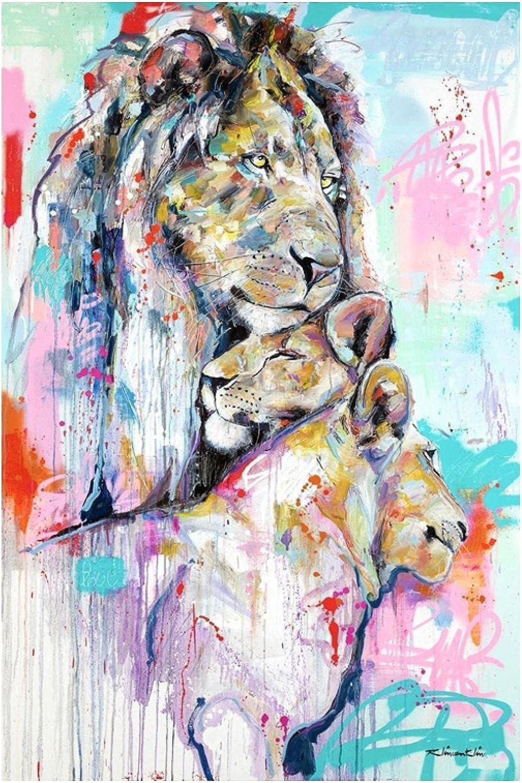Graffiti Financial sales sale Art Animal Canvas Washington Mall Painting Mod Family Lion Poster Print