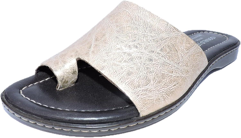 Donald J Pliner Womens Gyles Slide Sandals Antique Metallic Sandals Flats Size 6 M