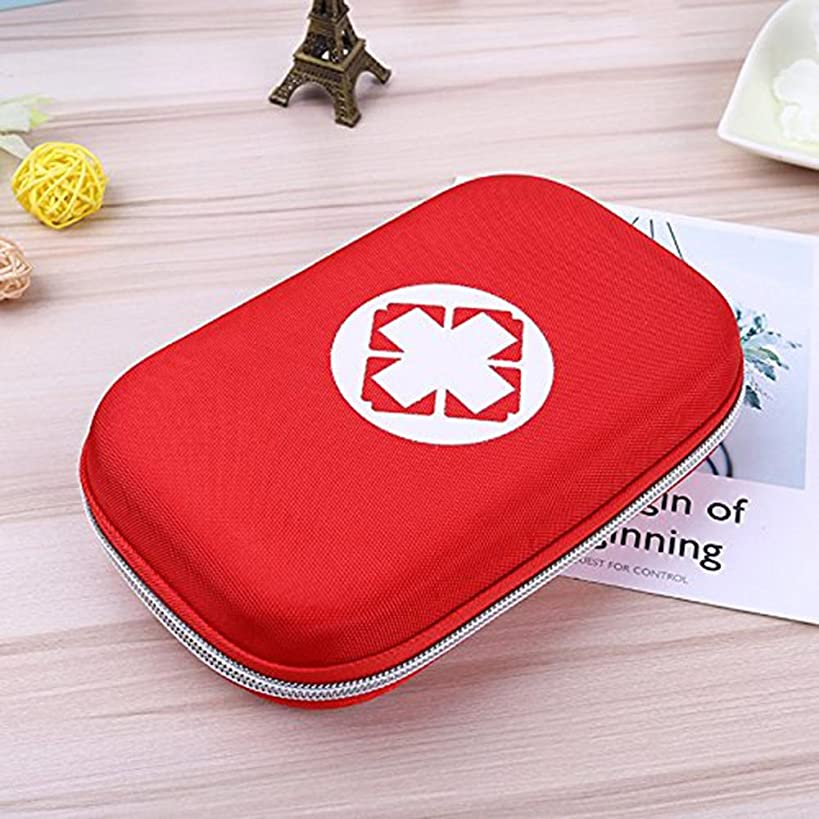 LIVIQILY Camping First Aid Kits,Empty Waterproof Medicine Storage Bag Portable Medical Package Emergency Medical Kit Survival Medicine Pills Pocket Container Perfect for Home Car Travel Outdoor