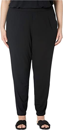 Plus Size Vicose Jersey Slim Ankle Slouchy Pants