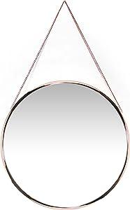 Infinity Instruments Modern Circle Mirror, Rose Gold