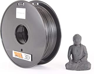 WOL 3D PETG- Carbon Fiber Filament(Black,1.75mm)
