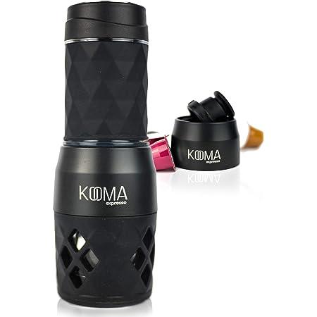 Cafetera portátil espresso, para capsulas compatibles NS y café molido, máquina de café capsulas y café molido, 19 bares de presión manual, ideal para salidas al aire libre, camping o trabajo