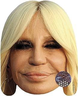 Donatella Versace Celebrity Mask, Card Face and Fancy Dress Mask