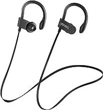 Rumba by Carlos Santana Wireless Sport Bluetooth Earbuds, Headphones IPX5 Waterproof, Hi-Fi HD Bass Stereo Sweatproof Earphones w/Mic, Noise Cancelling Headset for Workouts, 6 HRS Playtime