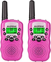 Best BaoFeng BF-T3 Kids Walkie Talkies Mini Two Way Radios for Boys Girls Children Toddlers Long Range UHF 462-467MHz Frequency 22 Channels (2 Pack, Pink) Review