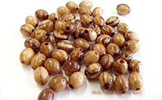 Olive Wood Oval Beads 9mm (100 beads).