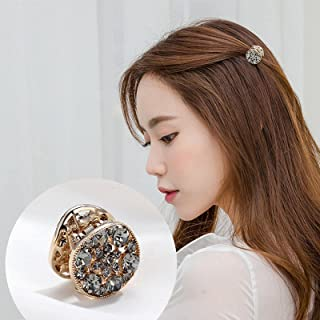 CHIMERA Mini Hair Jaw Claw Stylish Silver Rhinestone Round Bangs Hair Clip Small Hairpin Hairgrip for Women Girls