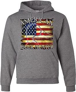 Tee Hunt American Duck Hunter Hoodie Waterfowl Hunting American Flag Sweatshirt