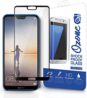 Ozone Huawei P20 Tempered Glass 0.26mm Full Cover Shock Proof Screen Protector - Black