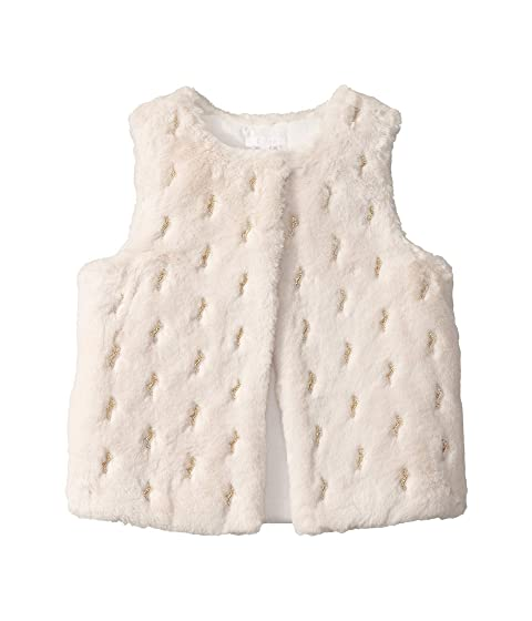 Chloe Kids Faux Fur Vest w/ Horse Embroidery (Big Kids)