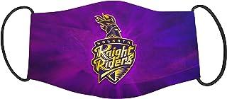 Vista IPL Team Kolkata Knight Riders Mask -Cotton Reusable Washable Mask Size 20x13 cms