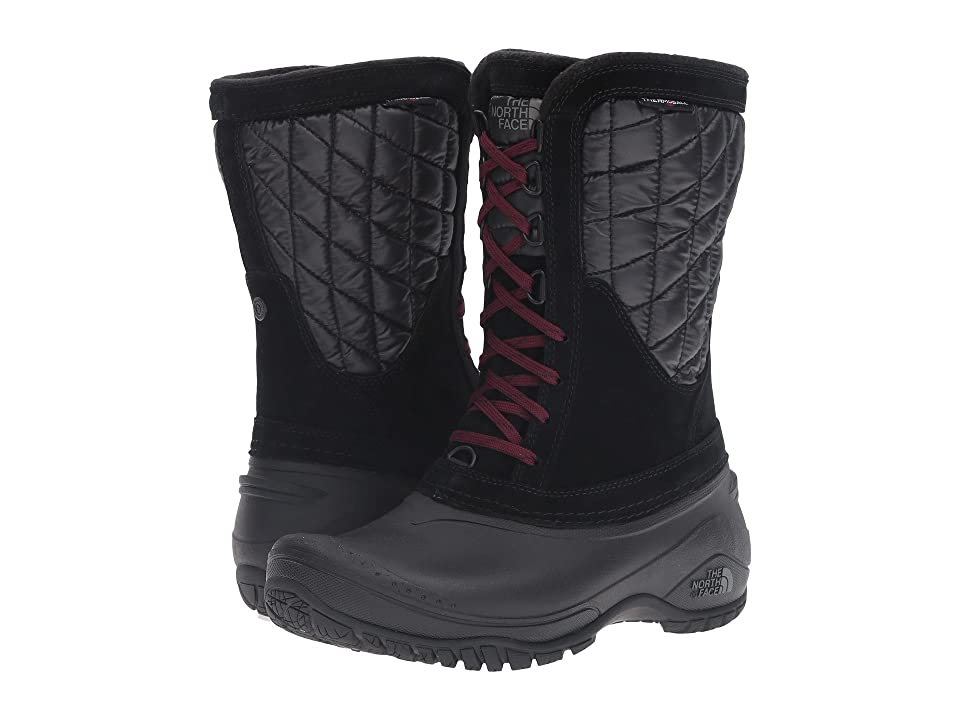 The North Face ThermoBall Utility Mid (TNF Black/Deep Garnet Red (Prior Season)) Women