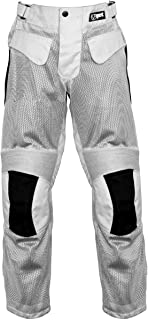 Jet Mens Motorcycle Motorbike Mesh Textile Summer Trousers Breathable Protective Armored VENT-X (W 34 L 32, Silver)