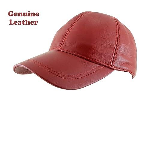 56d4da55b6f6ea Ha G's Adjustable Genuine Leather Baseball Cap