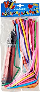 Partyforte Twisting Balloon Kit with Pump, 50 Count
