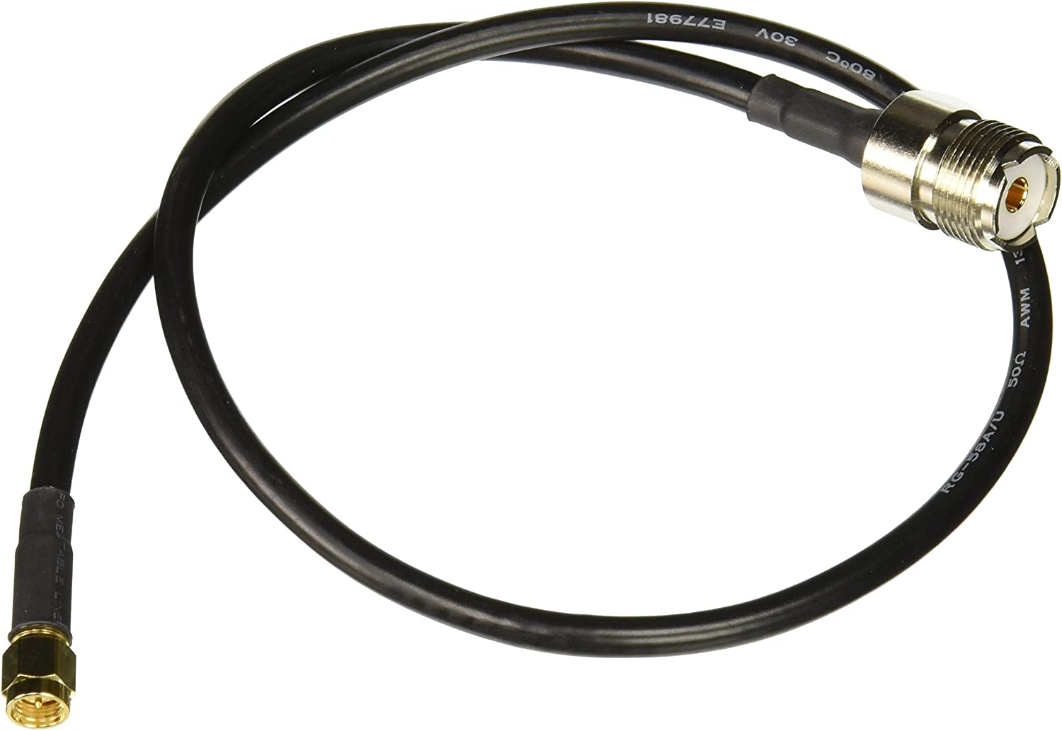 MPD Digital rg-58-sma-male-pl-259-10ft RF Coaxial Cable SMA Male to UHF PL259 Male RG58