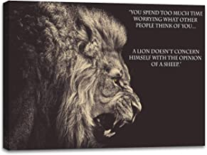 Inspiring Quotes Wall Decor Wall Art Inspirational Poster Motivational Canvas Prints Pictures - A Lion Doesnt't Concern Himself with The Opinion of A Sheep(20