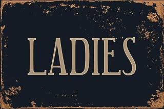 """StickerPirate Ladies Room Restroom 8"""" x 12"""" Vintage Aluminum Retro Metal Sign VS490"""